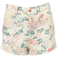 Coated Floral Hot Pants - Sale - Sale & Offers - Topshop USA