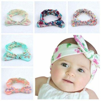 MDIGON Lovely Newborn Headband Bunny Ear Girls Bowknot Elastic Hairband Headwear Hair Accessories H9