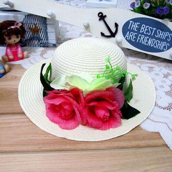 ONETOW 1 Pcs 2016 New Korean Fashion Women And Girl Sun Hats Spring Summer parent-child Beach Straw Hat 8 Colors Free Shipping