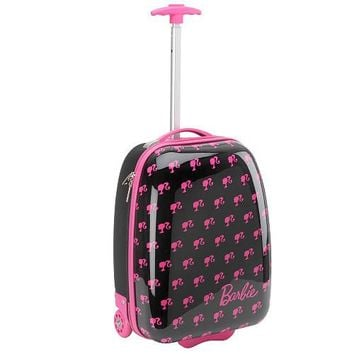 Barbie Hard Shell Rolling Luggage Case