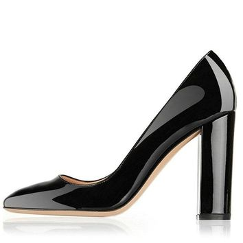 Women'S High Heels Patent Leather Shoes