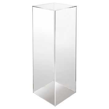 "24"" Pedestal, Clear, Acrylic / Lucite, Plant Stands"