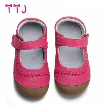 TTJ girls shoes genuine leather black mary jane with children mark line shoes good quality stock little kids beautiful shoes