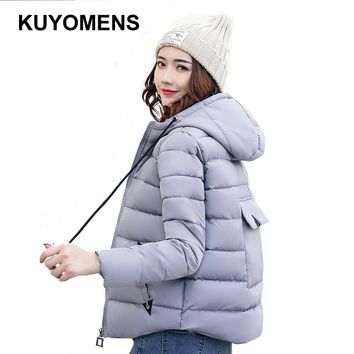 KUYOMENS Women's Winter Jackets And Coats 2017 Women Thick Short Jacket Winter Parka Female Cotton Padded Anorak Manteau Femme