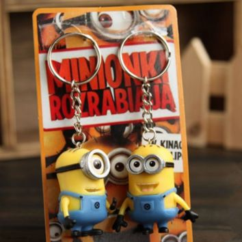 Minions Despicable ME Toys Key Chains Ring