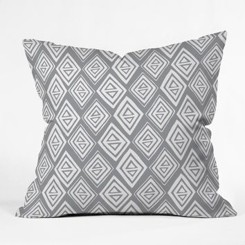 Heather Dutton Diamond In The Rough Grey Throw Pillow