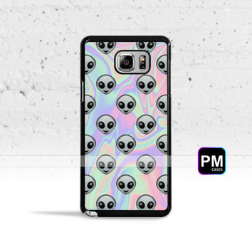 Tie Dye Alien Emoji Case Cover for Samsung Galaxy S3 S4 S5 S6 S7 Edge Plus Active Mini Note 3 4 5 7