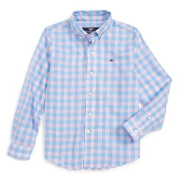 Vineyard Vines Blyden Check Whale Shirt (Toddler Boys, Little Boys & Big Boys) | Nordstrom