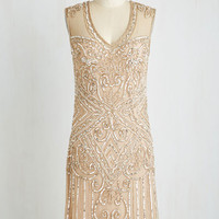 Vintage Inspired Sleeveless Shift Roaring Adoration Dress by ModCloth
