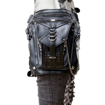 *Shoulder Purse leather women bag steampunk