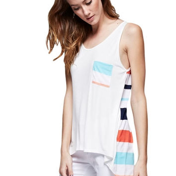 Summer Stripes Sleeveless Tank