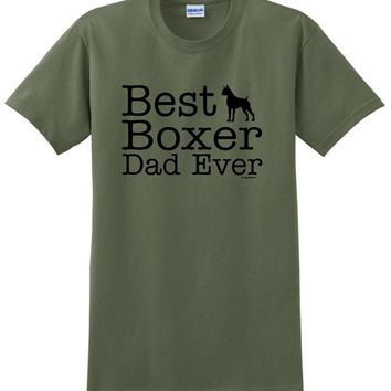 Best Boxer Dad Ever- Dogs T-shirt