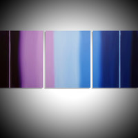 """ARTFINDER: triptych 3 panel wall art colorful images """"Purple Haze"""" 3 panel canvas wall abstract canvas pop abstraction 60 x 28"""" by Stuart Wright - """"Purple Haze""""  3 piece canvas art On 3 canva..."""