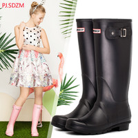 PJ.SDZM Europe Star Classic Waterproof Rain boots Women's Fashion Buckle Water Shoes Star Style Rubber Shoes Rain Boots 6Colors