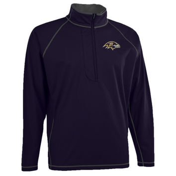 Antigua Baltimore Ravens Shadow Half Zip Pullover Jacket - Purple