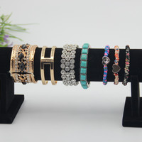 New Hot Sales Black velvet Bangle display 1pc/Lot black jewelry bracelet holder watch display stand Anklet Display gifts display