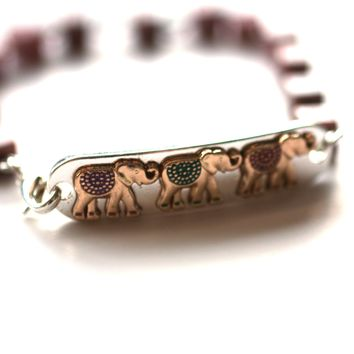Elephant Bracelet // Delicate Beaded Bracelet // Motivational Gift