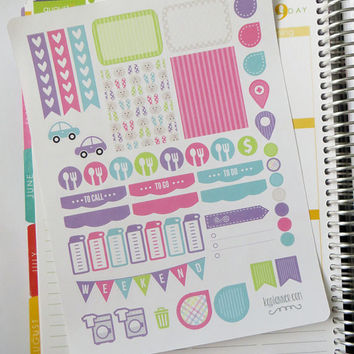 Easter (Style 2) Weekly Spread Planner Stickers for Erin Condren Planner, Filofax, Plum Paper