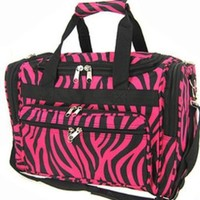 World Traveler Pink Black Duffle Bag 22-inch