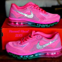 Nike Air Max with Swarovski Element crystal detail by Harriet Hazel e0b4aff46675