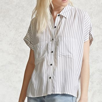 Striped Cropped Shirt