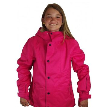 O'Neill Girl's Pink Warm Winter Snowboard Ski Hooded Jacket Insulated Coat Sz 10