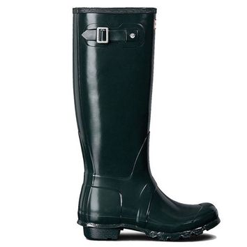 ONETOW Hunter Original Tall - Gloss Ocean Tall Rain Boot