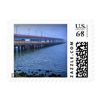 Bridge and the fog, postage stamp