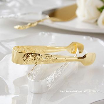 Rose and Romantic classical sugar Tong/clip gold / silver stainless steel Japan-made cutlery stylish kitchen