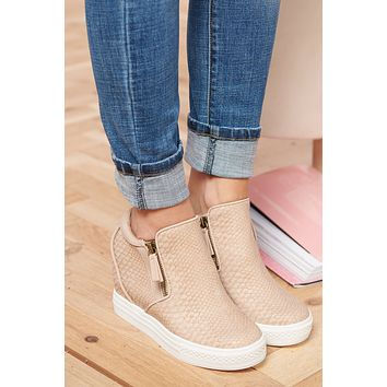 So Mysterious Sneaker Wedges (Blush)