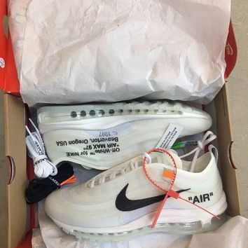 DCCKIN2 Nike Air Max 97 x Virgil Abloh Off white Top Ten UK 8.5 US 9.5