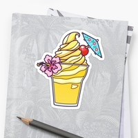 'Floral Dole Whip' Sticker by MagicalNoms