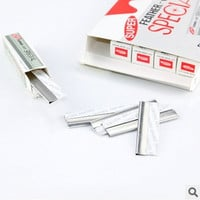 10pcs/box Sharp Stainless Steel hair blade knife eyebrow shaping Shaver razor Eyebrow Trimmer Scraper = 1668829828
