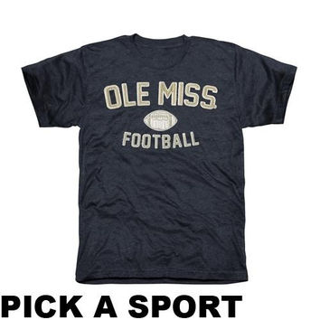 Ole Miss Rebels Legacy Tri-Blend T-Shirt - Navy Blue
