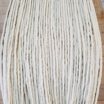 Wool Dreadlocks Custom Wool Dreads Handmade Hippie Dreads Hair Extensions  Set of 45