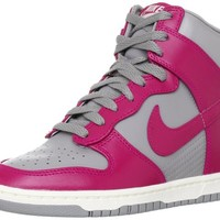 Nike Wmns Dunk Sky Hi High Grey/Fuchsia Hidden Wedge Heels Women's Sneakers Shoes