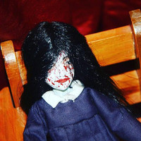 Free Shipping**Creepy Gothic Horror Halloween Decor Scary Doll Spooky Haunted Doll Silent Hill Coffin Strange OOAK Handmade Art Doll Alessa