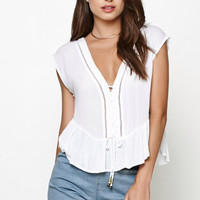 MinkPink Junipers Shadow Lace-Up Top at PacSun.com