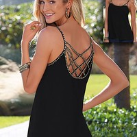 Embellished back detail top by VENUS