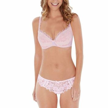 Fiore Plunge Bra in Soft Pink by Lepel