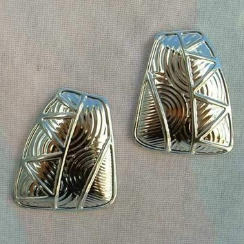 Berébi Geometric Post Earrings Art Deco Style