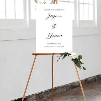 Wedding Welcome Sign, Large Wedding Welcome Sign, Custom Welcome Sign, Welcome Sign Poster, Modern Wedding Sign, Large Welcome Sign Poster