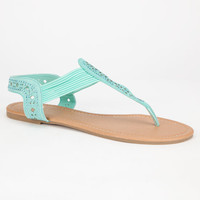 Celebrity Nyc Bling Womens Sandals Mint  In Sizes