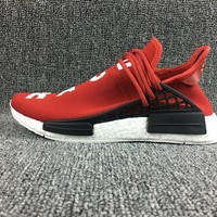 Adidas Boost Nmd Human Race Red Women Men Fashion Trending Running Sneakers