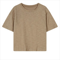 Camel Short Sleeve Casual T-Shirt