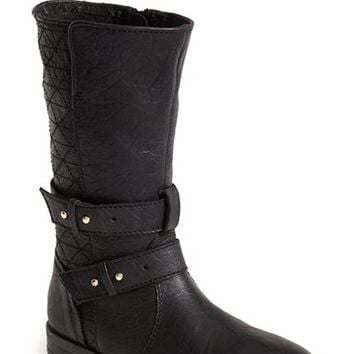 "Women's Steve Madden 'Kristenn' Leather Moto Boot, 1 1/2"" heel"