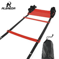 RODEX Top Quality 5M (16.5 feet) * 9 rungs long Soccer Training Speed Agility Ladder  Carry Bag Outdoor Fitness Equipment ladder