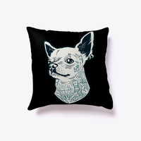 Tattooed Chihuahua Decorative Pillow