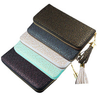 New Fashion Women Europe Style High Quality Gilt Pattern Zipper Wallet Handbag