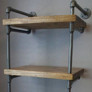 Industrial Pipe Media Shelves